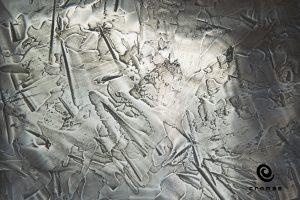 Dekoracyjna metaliczna żywica epoksydowa pure metal, aplikowana kielnią